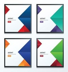 Design crumpled paper 2 color vector