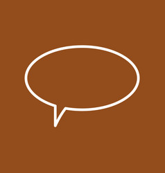 dialogue cloud icon vector image