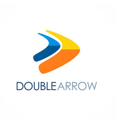 Double arrow colored logo vector