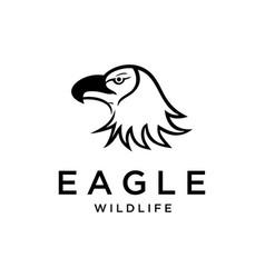 eagles head vector image