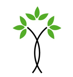 Eco friendly logo concept vector image