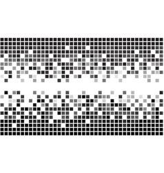 fading greyscale pixel borders vector image