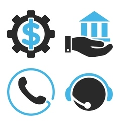 Financial Service Flat Icons vector