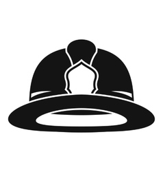 Fireman helmet icon simple style vector