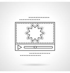 Flash video streaming flat line icon vector