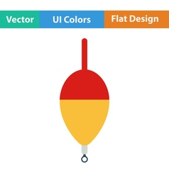 Flat design icon of float vector