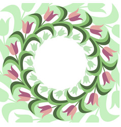 flat stile floral background vector image