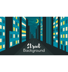 Flat style of night city street vector