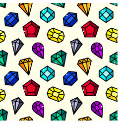 Gems seamless pattern vector