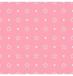 Geometric pink seamless pattern Stars vector