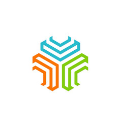 Geometry technology colored logo vector