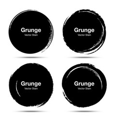Hand drawn circle brush circular grunge doodle vector