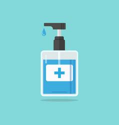 Hand sanitizer pump bottle vector