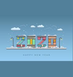 happy new year 2020 year rat merry vector image