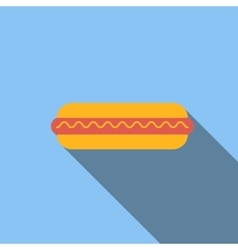 Hot dog flat icon vector image