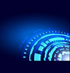 hud futuristic element circle abstract digital vector image