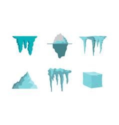 ice icon set flat style vector image