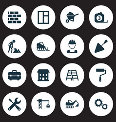 industry icons set collection of spatula vector image