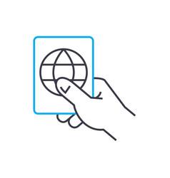 internet user access thin line stroke icon vector image