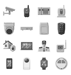 Isolated object office and house icon vector