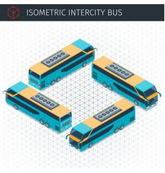 isometric intercity bus vector image