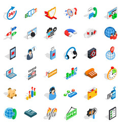 Lan network icons set isometric style vector