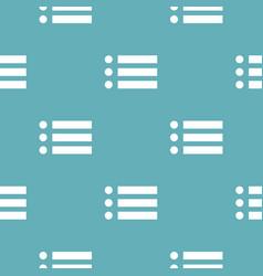 list pattern seamless blue vector image