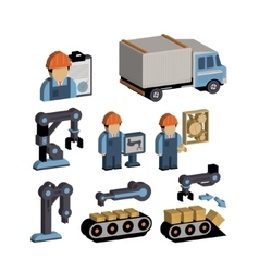 Logistics and Warehouse Icons vector image