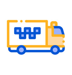 logo truck online taxi icon vector image