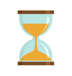Magic hourglass icon flat style vector