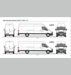 Mercedes sprinter cargo van l4h2 and l4h3 2017 vector