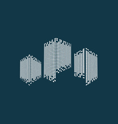 modern city skyline logo vector image