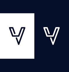 Modern letter v logo design vector
