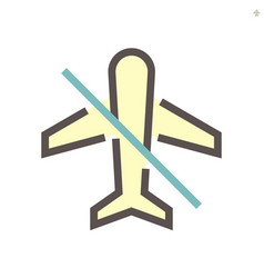 No fly for prevent virus concept icon 48x48 vector
