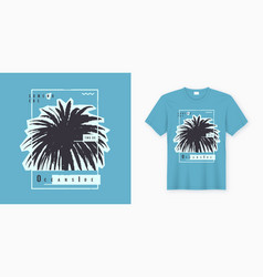 Oceanside stylish graphic tee design poster vector