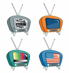 old-style televisions vector image