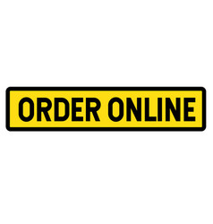 Order online sign vector