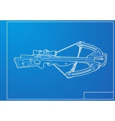 Outline crossbow vector