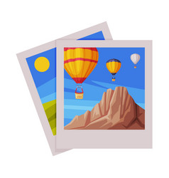 Photograph as travel and tourism symbol vector