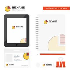 pie chart business logo tab app diary pvc vector image