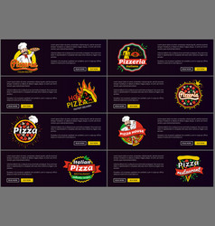 Pizzeria italian recipes web vector