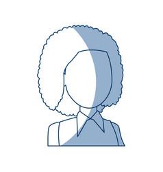 Portrait woman cartoon female girl character vector