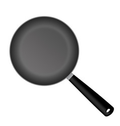 realistic empty frying pan vector image