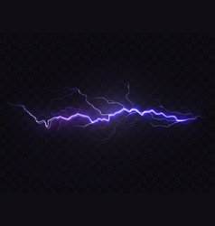 realistic lightning purple thunderstorm vector image