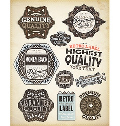 Retro Rustic Icon Set vector image