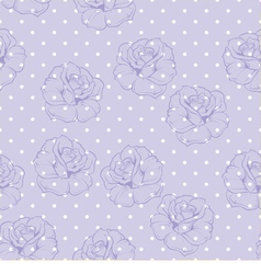 Seamless floral pattern with violet roses on blue vector image vector image