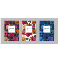 set of festive floral abstract vertical covers vector image