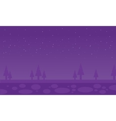 Silhouette of spruce scenery vector image