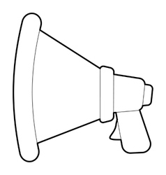 Speaker icon outline style vector