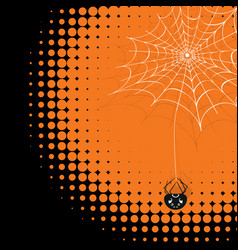 spider web with cute spider vector image
